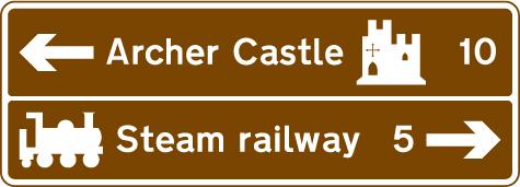 motorway-signs - archer castle