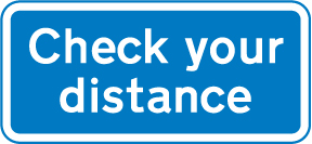 motorway-signs - check your distance