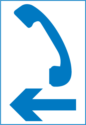 motorway-signs - direction to telephone
