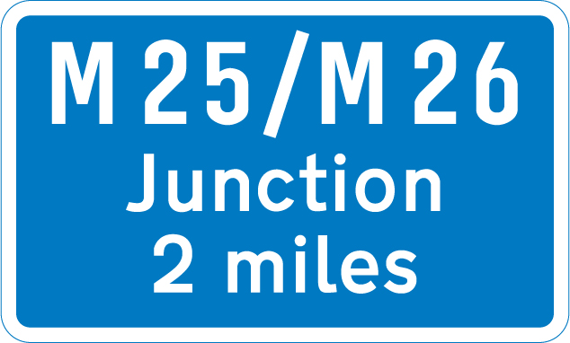 motorway-signs - distance to intersection