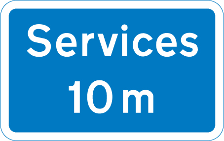 motorway-signs - distance to services