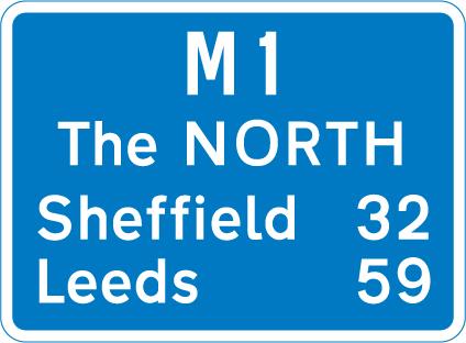 motorway-signs - distances