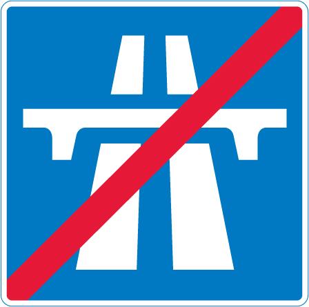 motorway-signs - end of motorway