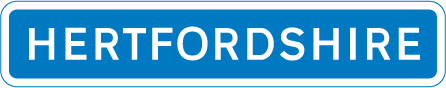 motorway-signs - hertfordshire county border