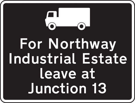 motorway-signs - industrial estate directions