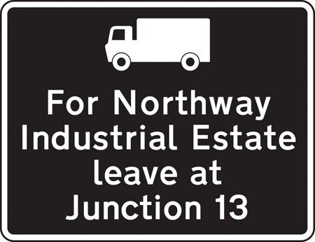 motorway-signs - industrial estate directions