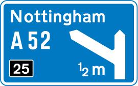 motorway-signs - junction 25