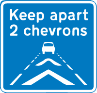 motorway-signs - keep two chevrons apart