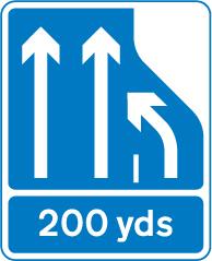 motorway-signs - lane 3 closing