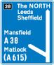 motorway-signs - large motorway exit sign