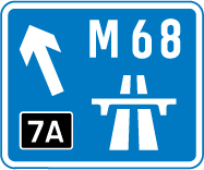 motorway-signs - m68 junction 7a