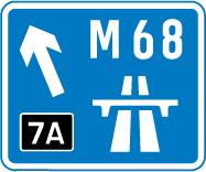 motorway-signs - m68 junction 7a
