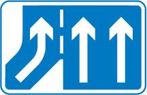 motorway-signs - non merging slip lane on left