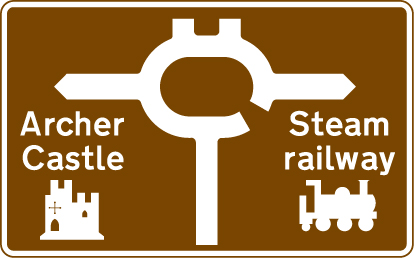motorway-signs - route to places of interest