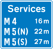 motorway-signs - services information