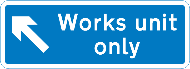 motorway-signs - works unit only