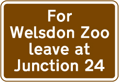 motorway-signs - zoo directions