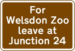 motorway-signs - zoo directions