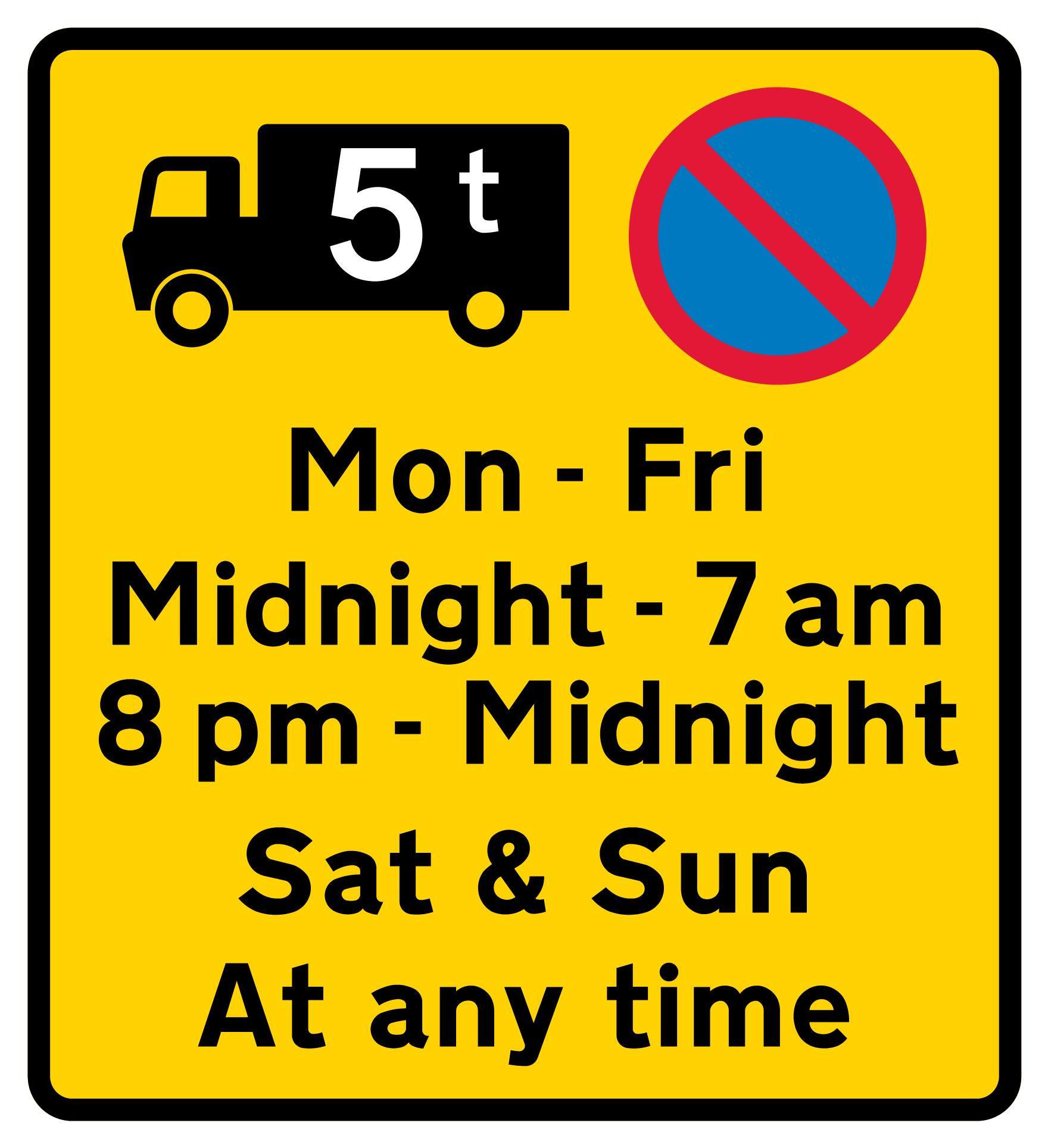 on-street-parking - 5 tonne truck waiting restriction