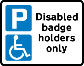 on-street-parking - disables badge holders ony