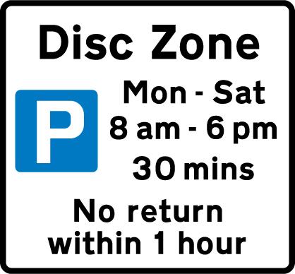 on-street-parking - disc zone