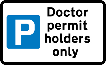 on-street-parking - doctors permit holders only