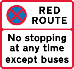 on-street-parking - red route except buses