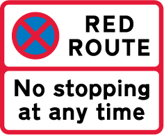 on-street-parking - red route no stopping at any time