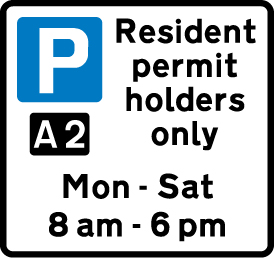 on-street-parking - residents permit holders only