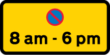 on-street-parking - waiting restriction 8am 6pm