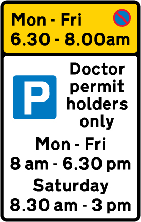 on-street-parking - waiting restriction doctor permit