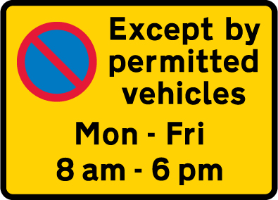 on-street-parking - waiting restriction except permitted vehicles