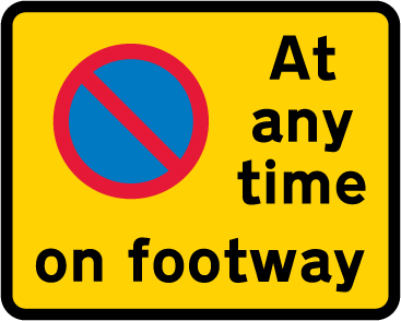 on-street-parking - waiting restriction footway