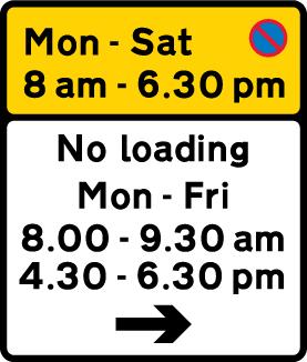 on-street-parking - waiting restriction loading restriction peak