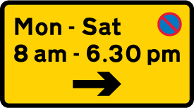 on-street-parking - waiting restriction monday to saturday