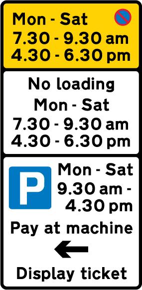 on-street-parking - waiting restriction parking meter