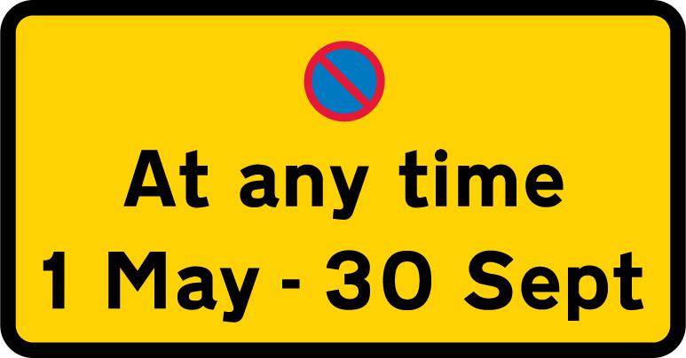 on-street-parking - waiting restriction summer months