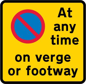 on-street-parking - waiting restriction verge footway