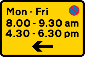 on-street-parking - waiting restrictions monday to friday