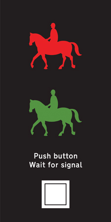 pedestrian-cycle-equestrian - equestrian button