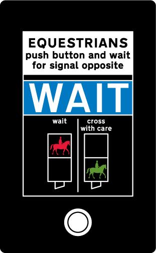 pedestrian-cycle-equestrian - equestrian wait