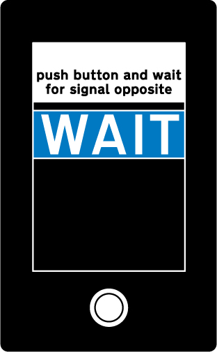 pedestrian-cycle-equestrian - pedestrian wait