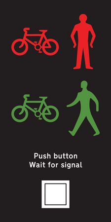 pedestrian-cycle-equestrian - puffin light