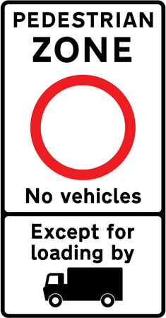 pedestrian-zone-signs - pedestrian zone