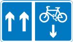 regulatory-signs - contraflow bike lane