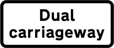 regulatory-signs - dual carriageway plate