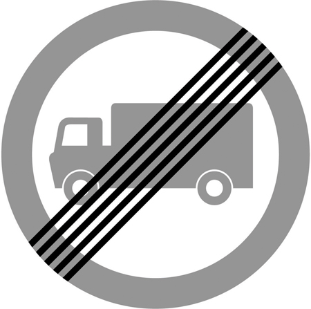 regulatory-signs - end of no truck zone