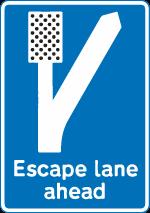 regulatory-signs - escape lane ahead