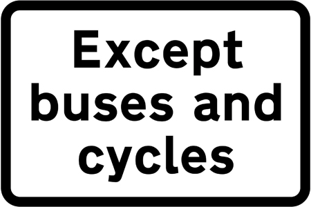 regulatory-signs - except buses and cycles
