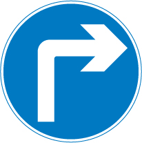 regulatory-signs - go right ahead